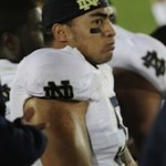 The Warrior Watches.Photo from Manti Te'o's Wikipedia page originally posted to Flickr by Neon Tommy reviewed on 8 August 2011 by the FlickreviewR robot and confirmed to be licensed under the terms of the cc-by-sa-2.0.