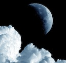 Moon and cloud.